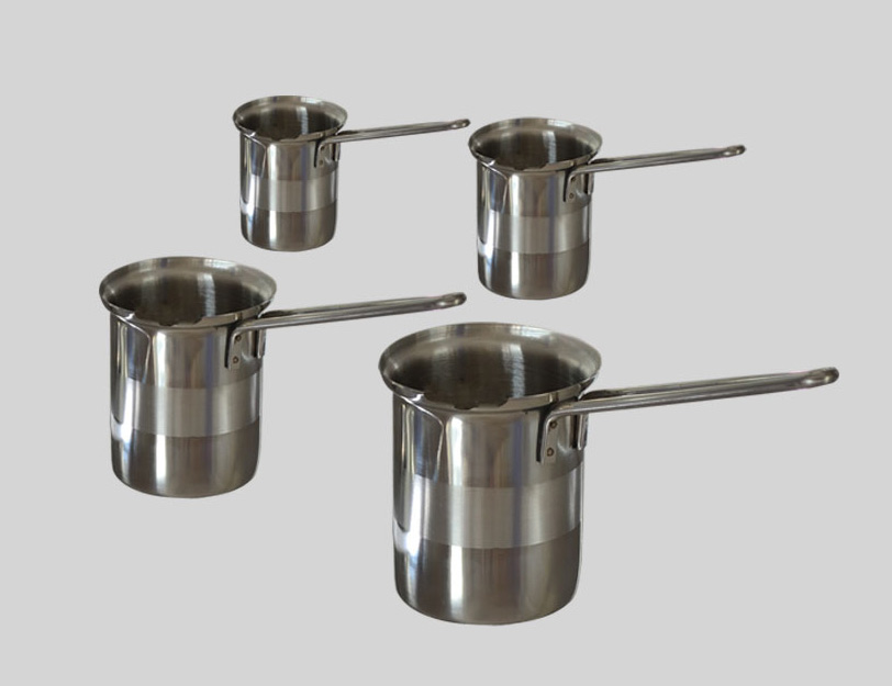 Set of four straight milk pot