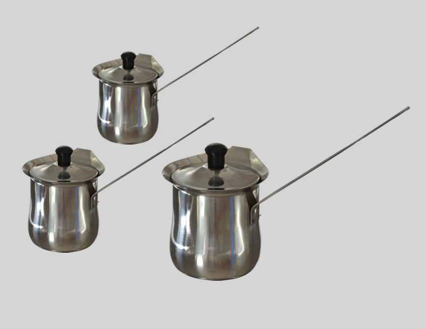 Long mouth pieces of handle of coffee pot